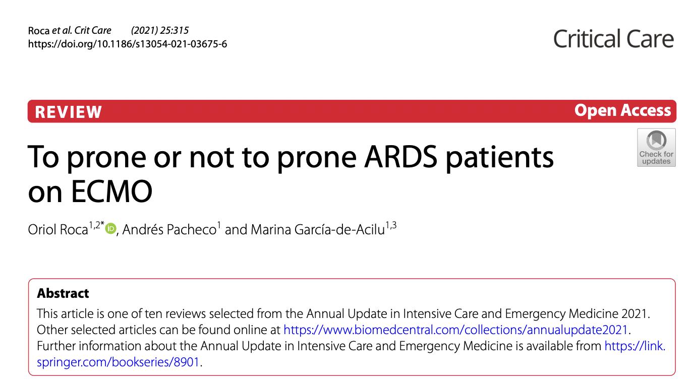 ECMO 治疗 ARDS 患者,要不要俯卧位?